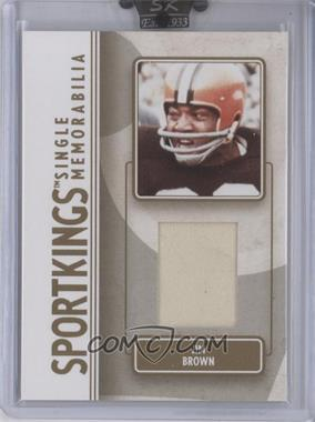 2008 Sportkings Series B Single Memorabilia Gold #SM-20 - Jim Brown /10