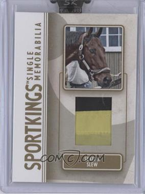 2008 Sportkings Series B Single Memorabilia Gold #SM-38 - Seattle Slew /10