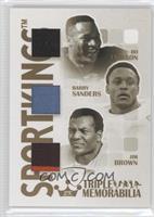 Bo Jackson, Barry Sanders, Jim Brown #2/10