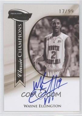 2009 Press Pass Fusion - Classic Champions Autographs - Gold #CCH-WE - Wayne Ellington /99