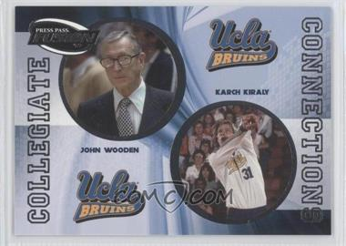 2009 Press Pass Fusion - Collegiate Connections #CCN-10 - John Wooden, Karch Kiraly