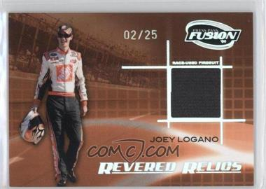 2009 Press Pass Fusion - Revered Relics - Onyx #RR-JL - Joey Logano /25