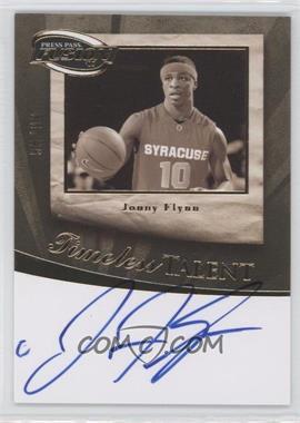 2009 Press Pass Fusion - Timeless Talent Autographs - Gold #TT-JF - Jonny Flynn /99