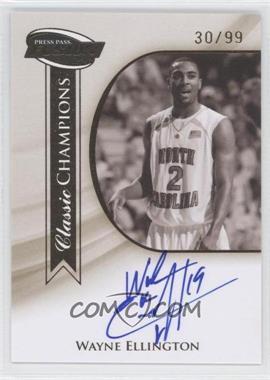 2009 Press Pass Fusion [???] #CCH-WE - Wayne Ellington /99