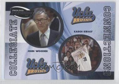 2009 Press Pass Fusion Collegiate Connections #CCN-10 - John Wooden, Karch Kiraly