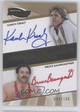 2009 Press Pass Fusion Cross Training Autographs Gold #CTA-KKBB - Karch Kiraly, Bruce Baumgartner /100