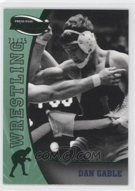 2009 Press Pass Fusion Emerald #86 - Dan Gable /25