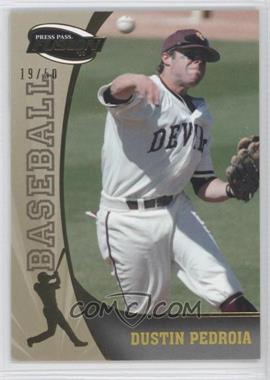 2009 Press Pass Fusion Gold #13 - Dustin Pedroia /50