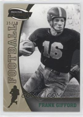 2009 Press Pass Fusion Gold #43 - Frank Gifford /50