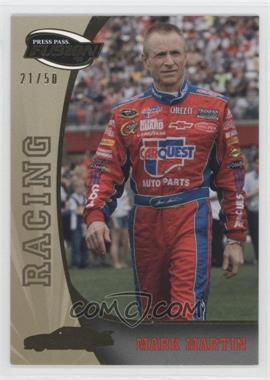 2009 Press Pass Fusion Gold #74 - Mark Martin /50