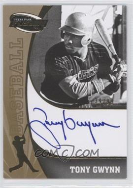 2009 Press Pass Fusion Signatures Gold #SS-TG - Tony Gwynn