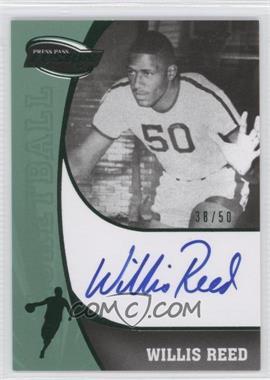 2009 Press Pass Fusion Signatures Green #SS-WR - Willis Reed /50