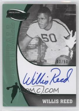 2009 Press Pass Fusion Signatures Green #SS-WR - Willis Reed /50