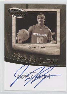 2009 Press Pass Fusion Timeless Talent Autographs Gold #TT-JF - Jonny Flynn /99