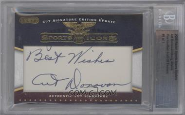 2009 Razor Cut Signature Sports Icons Update Edition - Authentic Cut Signature #ADDA - Art Donovan, Doug Atkins /1 [BGSAUTHENTIC]