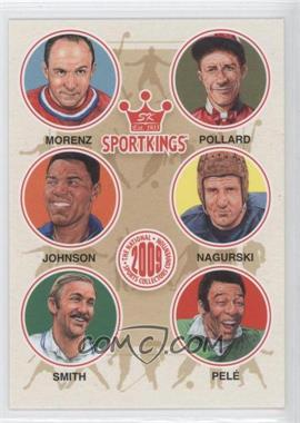 2009 Sportkings Series C - [???] #VIP-07 - Howie Morenz, Red Pollard, Rafer Johnson, Bronko Nagurski, Stan Smith, Pele