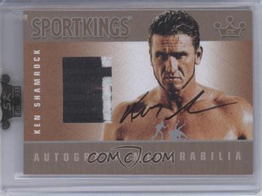 2009 Sportkings Series C - Autograph - Memorabilia - Silver [Autographed] #AM-KS2 - Ken Shamrock