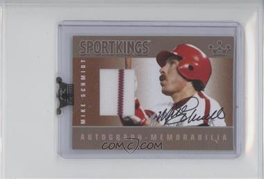 2009 Sportkings Series C - Autograph - Memorabilia - Silver [Autographed] #AM-MSC2 - Mike Schmidt