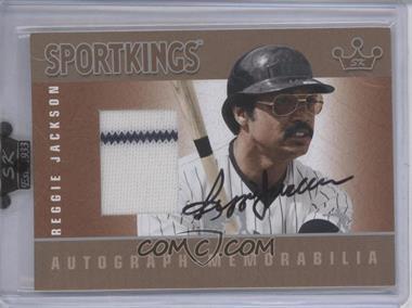 2009 Sportkings Series C - Autograph - Memorabilia - Silver [Autographed] #AM-RJA1 - Reggie Jackson