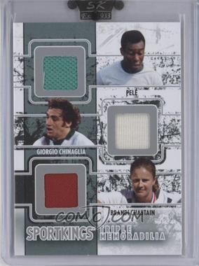 2009 Sportkings Series C - Triple Memorabilia #TM-07 - Pele, Giorgio Chinaglia, Brandi Chastain