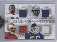 Michael Irvin, Drew Pearson, Jerry Rice, Lawrence Taylor