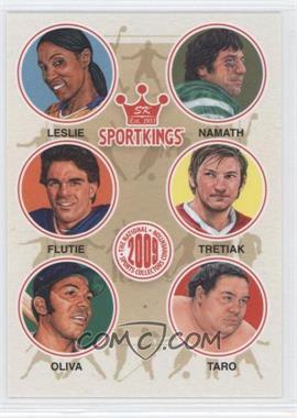 2009 Sportkings Series C [???] #VIP-02 - Lisa Leslie, Joe Namath, Doug Flutie, Vladislav Tretiak, Jose Oliva, Akebono Taro
