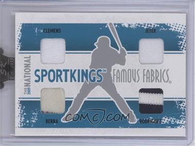 2009 Sportkings Series C 30th National Sportkings Famous Fabrics Redemption Silver #SK-42 - Roger Clemens, Derek Jeter, Yogi Berra, Alex Rodriguez /9 [ENCASED]