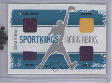 2009 Sportkings Series C 30th National Sportkings Famous Fabrics Redemption Silver #SK-47 - Kareem Abdul-Jabbar, Magic Johnson, Kobe Bryant, Shaquille O'Neal /9
