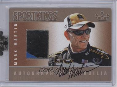 2009 Sportkings Series C Autograph - Memorabilia Silver [Autographed] #AM-MMA1 - Mark Martin