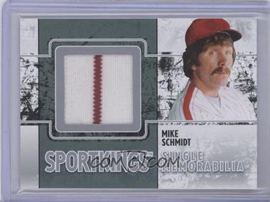 2009 Sportkings Series C Single Memorabilia Silver #SM-17 - Mike Schmidt