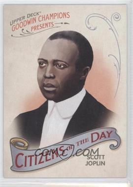 2009 Upper Deck Goodwin Champions - Citizens of the Day #CD-9 - Scott Joplin