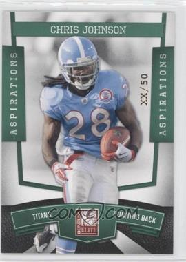 2010 Donruss Elite National Convention Aspirations #4 - Chris Johnson /50