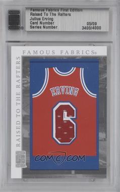 2010 Famous Fabrics [???] #N/A - Julius Erving /9