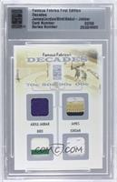 Kareem Abdul-Jabbar, Lebron James, Larry Bird, Michael Jordan /9 [ENCASED]