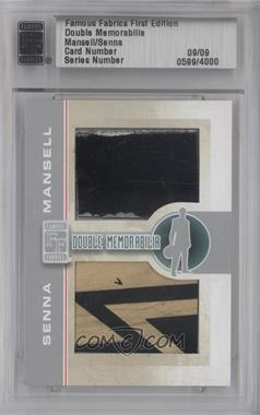 2010 Famous Fabrics First Edition - Double Memorabilia - Silver #N/A - Nigel Mansell, Ayrton Senna /9