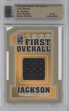 2010 Famous Fabrics First Edition - First Overall - Gold #N/A - Bo Jackson /1