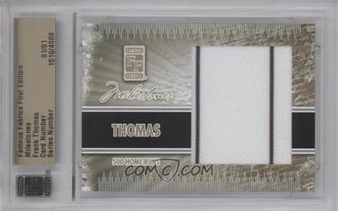 2010 Famous Fabrics First Edition - Milestones - Gold #1510 - Frank Thomas /1