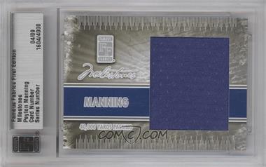 2010 Famous Fabrics First Edition - Milestones - Silver #1604 - Peyton Manning /9