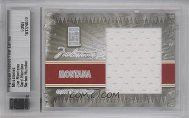 2010 Famous Fabrics First Edition - Milestones - Silver #N/A - Joe Montana /9