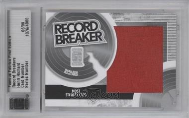 2010 Famous Fabrics First Edition - Record Breakers - Silver #06 - Henri Richard /9