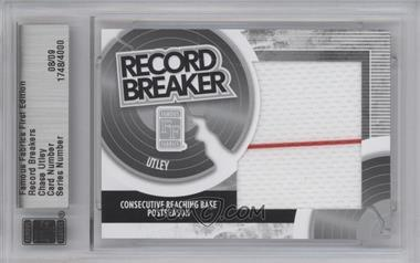 2010 Famous Fabrics First Edition - Record Breakers - Silver #N/A - Chase Utley /9