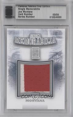 2010 Famous Fabrics First Edition - Single Memorabilia - Silver #0105 - Joe Montana /9