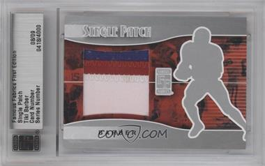 2010 Famous Fabrics First Edition - Single Patch - Silver #0418 - Tiki Barber /9