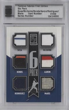 2010 Famous Fabrics First Edition 6 Pack Silver #N/A - Sammy Solis, Hank Aaron, Alex Rodriguez, Barry Bowden /9
