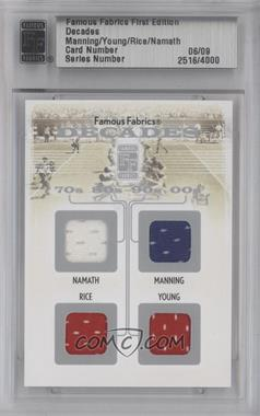 2010 Famous Fabrics First Edition Decades Silver #N/A - Jerry Rice, Steve Young /9