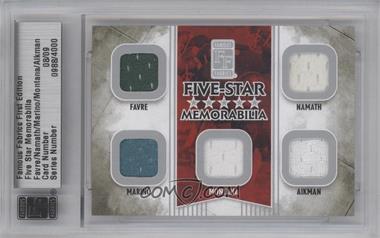 2010 Famous Fabrics First Edition Five-Star Memorabilia Silver #N/A - Brett Favre, Joe Namath, Dan Marino, Troy Aikman /9