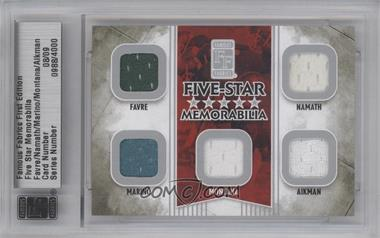 2010 Famous Fabrics First Edition Five-Star Memorabilia Silver #N/A - [Missing] /9