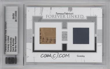 2010 Famous Fabrics First Edition Forever Linked Silver #N/A - Gordie Howe, Wayne Gretzky /9