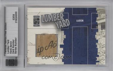 2010 Famous Fabrics First Edition Lumber Yard Silver #3193 - Hank Aaron /9