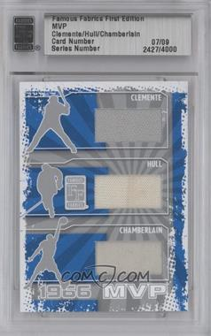 2010 Famous Fabrics First Edition MVP Silver #CHC - Roberto Clemente, Bobby Hull, Wilt Chamberlain /9